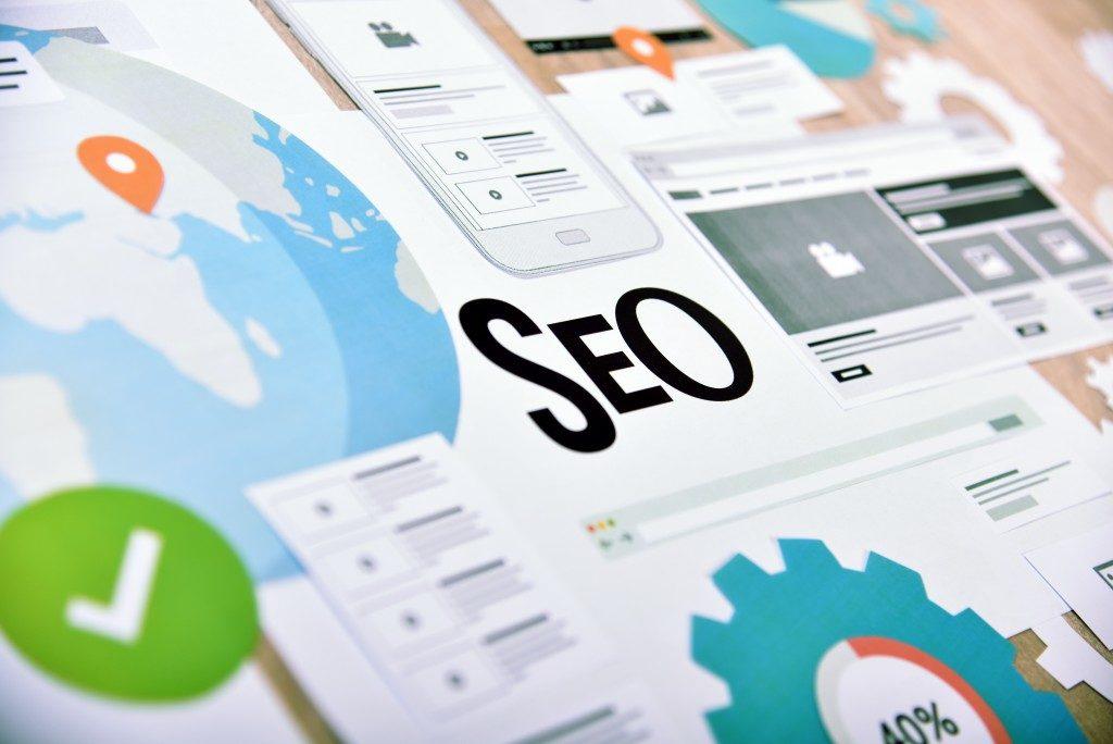 Website development and SEO concept