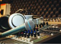 Microphone at a studio