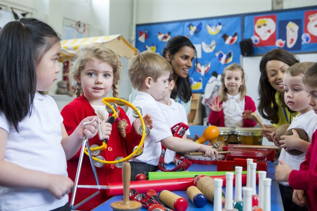children in a school