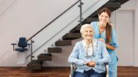 elderly woman with a nurse