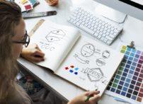 logo designer hand drawing logos