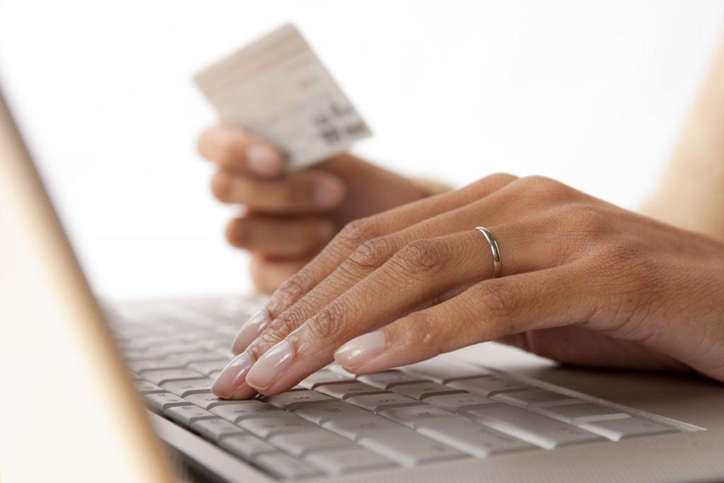 paying via credit card